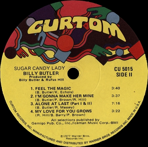 "Billy Butler : Album "" Sugar Candy Lady "" Curtom Records CU 5015 [ US ]"