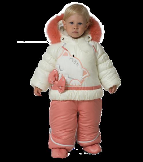 Enfants vétus en habits d' hiver