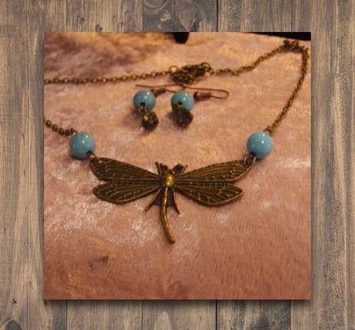 parure de bijoux libellule