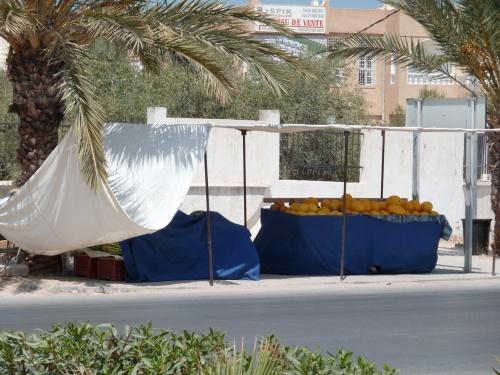 stand de melons en plein ramadan
