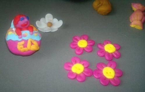 fimo boutons fleurs 2