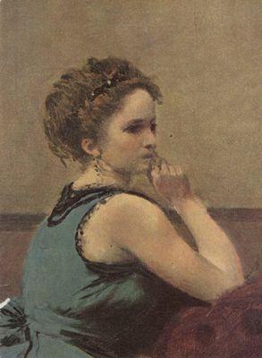 La femme en bleu - Tableau 1497