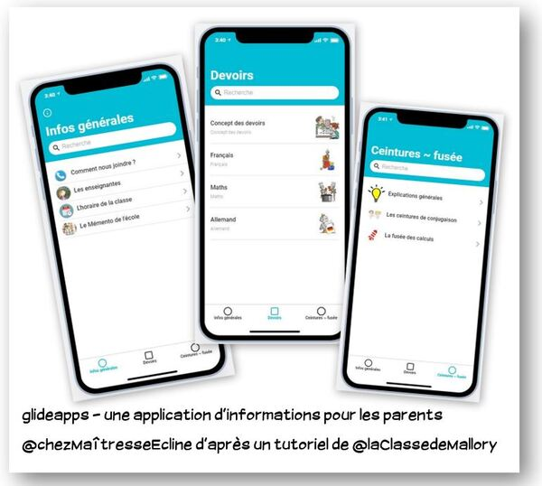 Une application de la classe pour les parents
