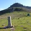 Retour col de Zizkuitz Est ou col de Zizkouitz Est (670 m) et sa borne frontière 23 devant La Rhune