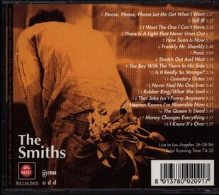 Live: The Smiths - Thank you Lucky Stars