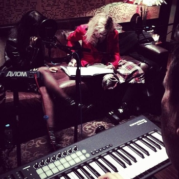 Madonna en studio d'enregistrement 2014