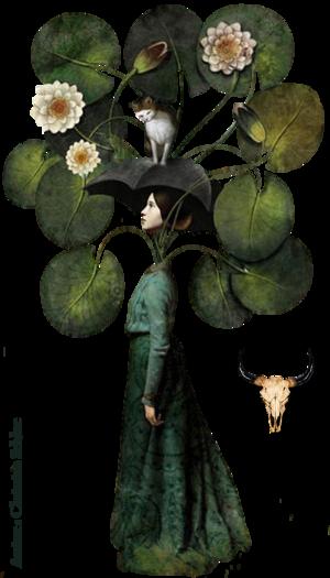 Tube Femme arbre à chat