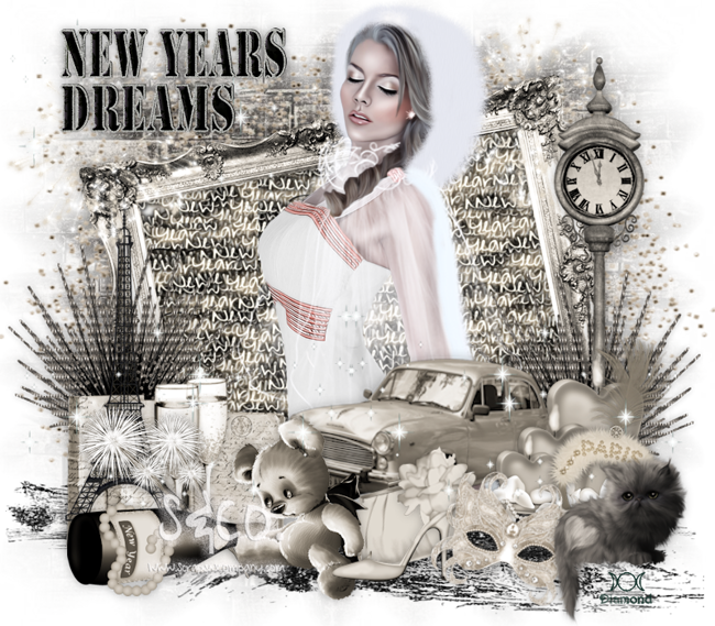 """Tutoriel """"New Years Dreams"""" de Chrisje"""