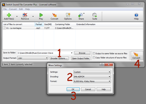 Convertir Son MP3 en Son Wav pour Diaporamas