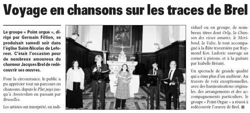 Concert du 23 mai 2009 - église St Nicolas de Leforest