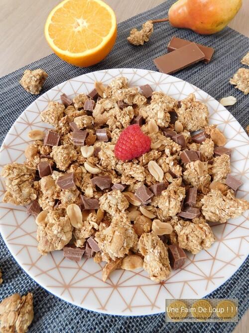 Granola crunchy aux cacahuètes