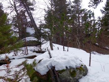 Rochers près du sommet
