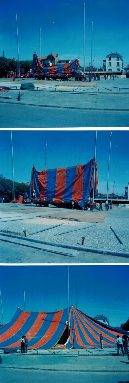 montage du cirque Jean Richard 1969