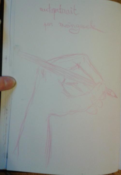 autoportrait main gauche