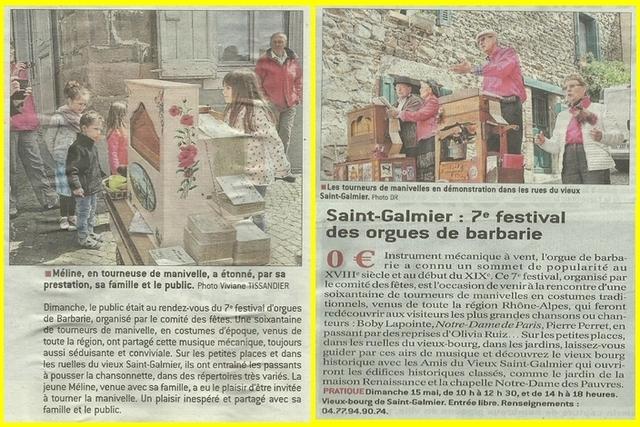 Festival à St Galmier 2016