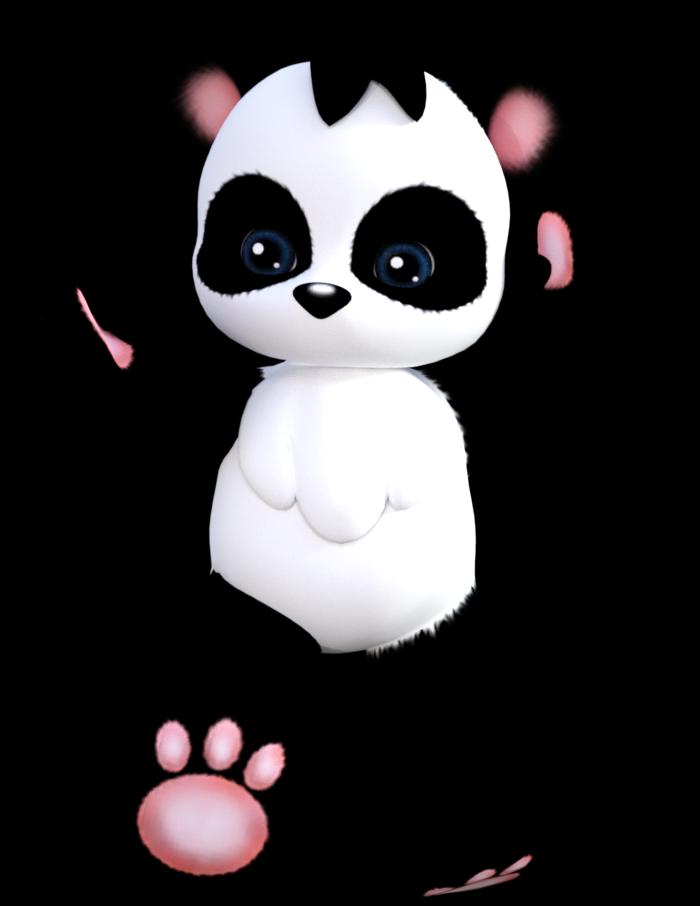 Tube de panda toon (image-png)