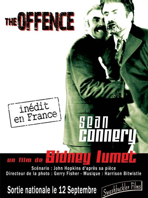 THE OFFENCE - BOX OFFICE SEAN CONNERY 1972