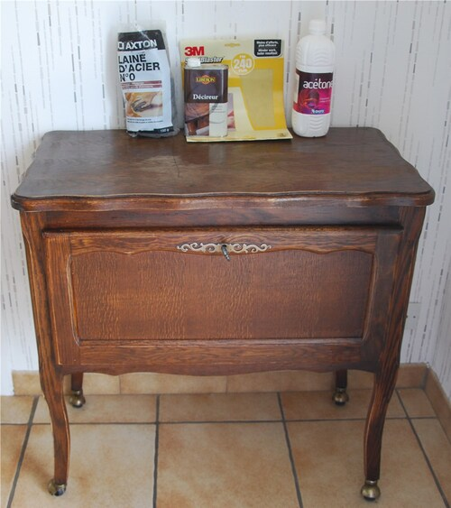 Relookage d'un meuble-bar ancien...