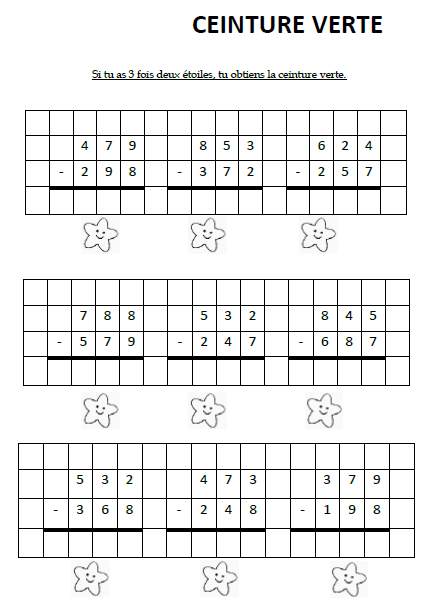 opérations mathématiques posées cm2
