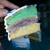 rainbow cake reine des neiges