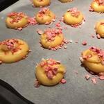 Chouquettes à la mandarine & pralines de Montargis
