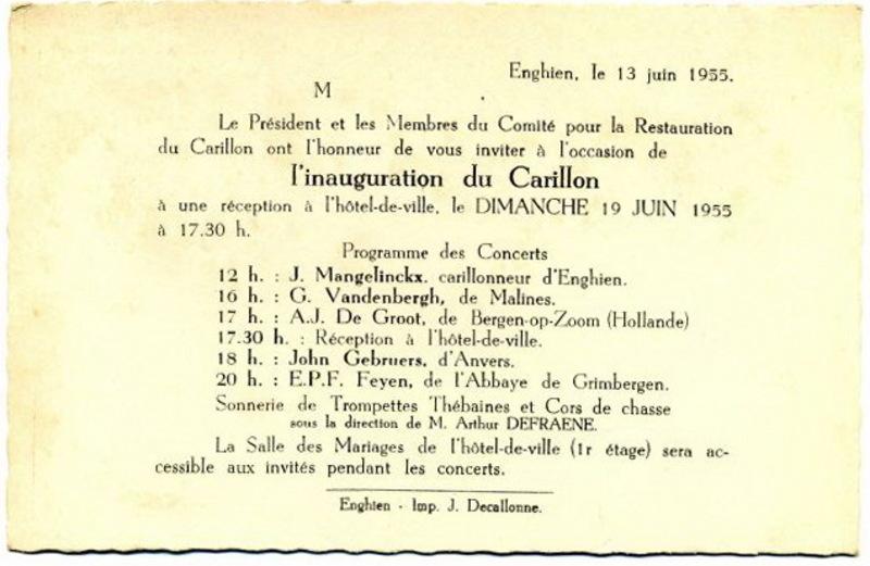 La restauration du Carillon, par Amé Wibail