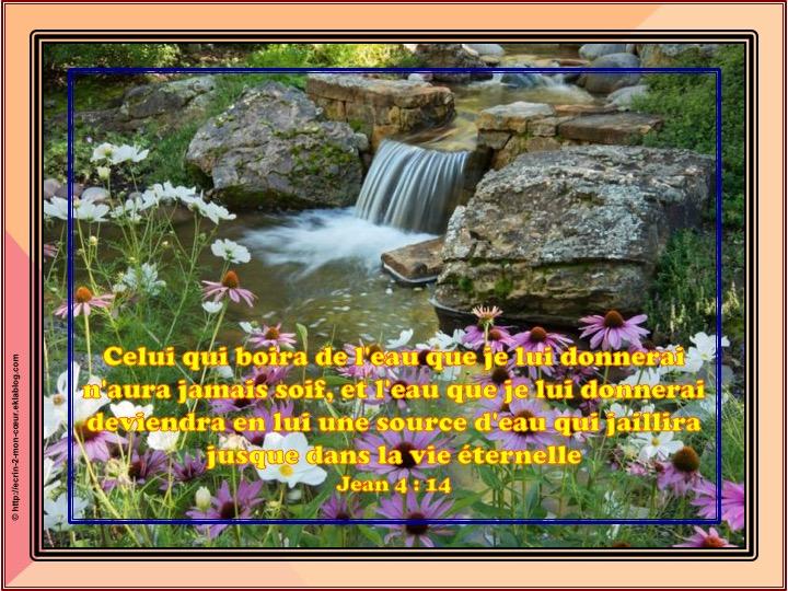 Une source d'eau qui jaillira jusque dans la vie éternelle - Jean 4 : 14