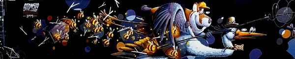 Fresque cigogne