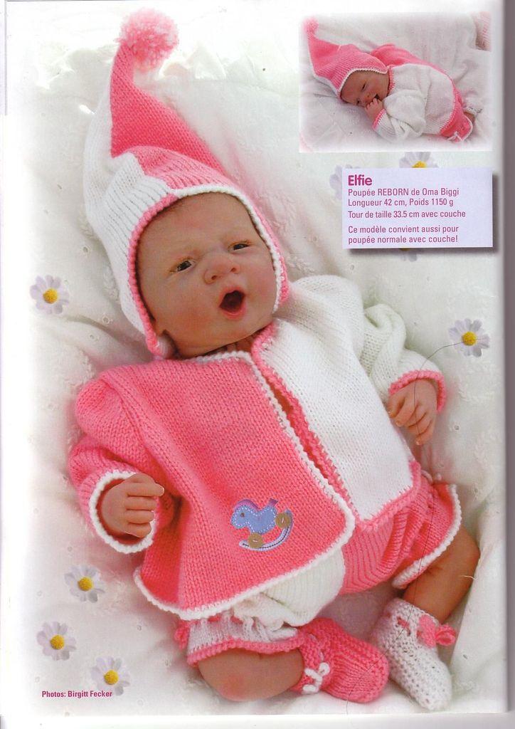 modele tricot bebe reborn
