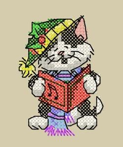 Cartes de Noël, chats 7 et 8.