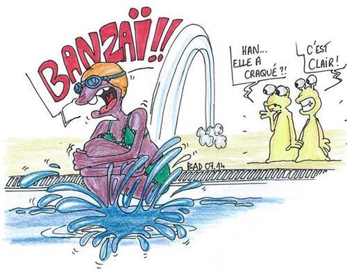 La maîtresse en maillot de bain !