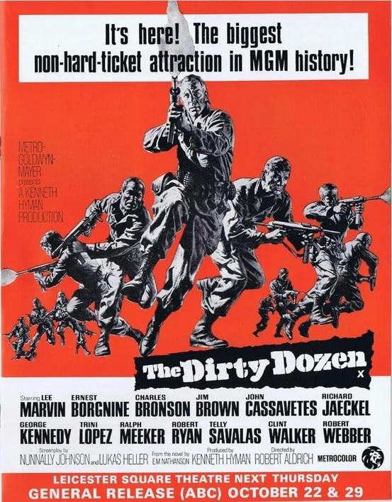 THE DIRTY DOZEN - LES 12 SALOPARDS BOX OFFICE USA 1967