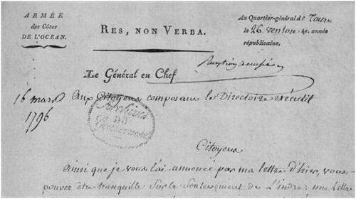 Palluau-sur-Indre, 1796 (3ème partie)....