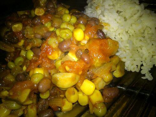 Chili  (à défaut de meilleurs termes) non pimenté d'Azukis aux légumes {Vegan}