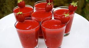 Déssert: Le soupe de fraise!