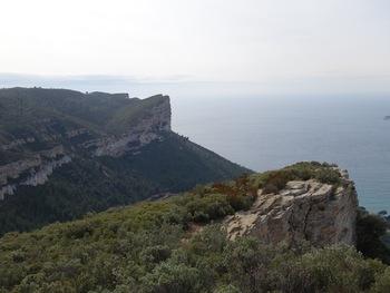 Le Cap Canaille vu du Baou de la Saoupe