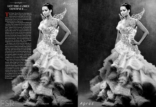 4 HG Hunger Games 2 Robe de mariée