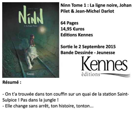 Ninn tome 1 : la ligne noire, Jean-Michel Darlot et Johan Pilet