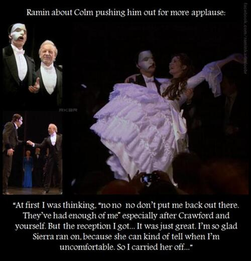 Colm Wilkinson and Ramin Karimloo