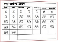 Calendrier mensuel automatique