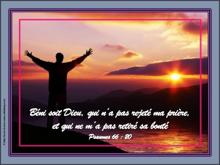Dieu ne rejette pas ma prière, ne me retire pas sa bonté - Psaumes 66 : 20