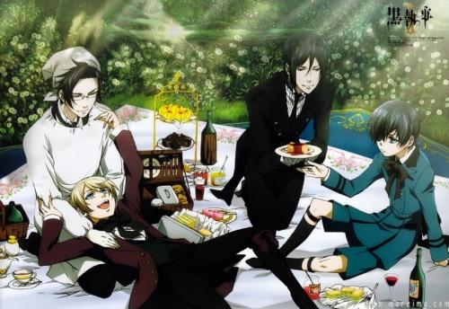 Alois & Claude et Ciel & Sebastian Kuroshitsuji Black butler Phamtomhive Trancy