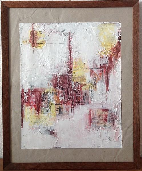 Collage et peinture