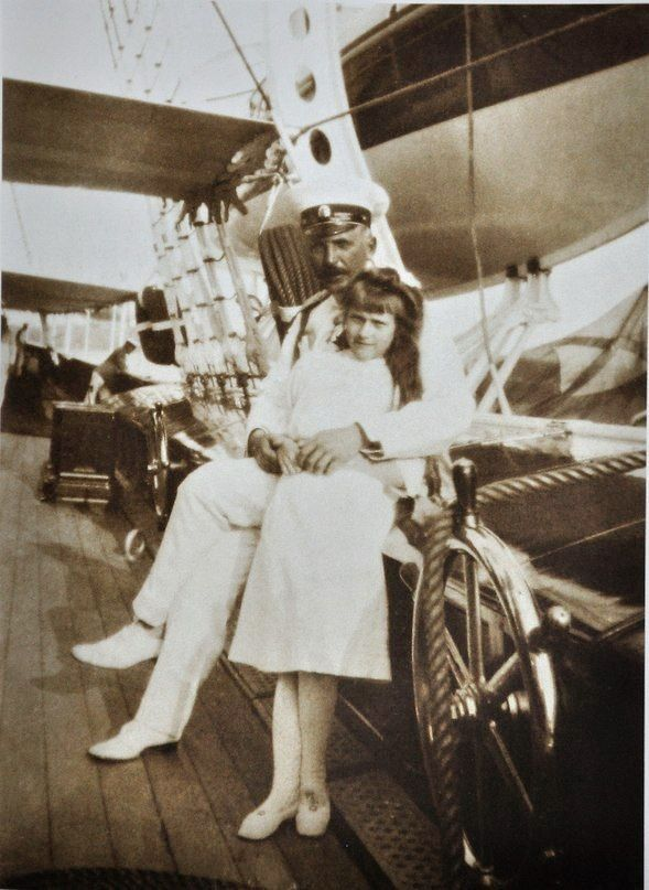 Anastasia & Commander Sablin onboard the Standart