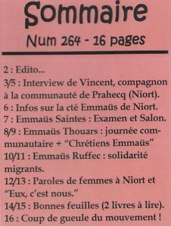 """Le journal """"De bouches à Oreilles"""" en 2016"""