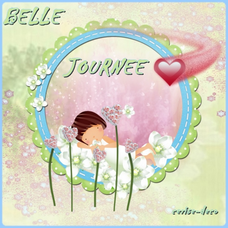 belle journee gif cerise