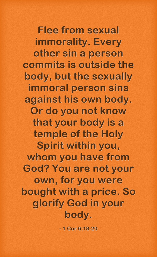 But the sexually immoral person sins against his own body