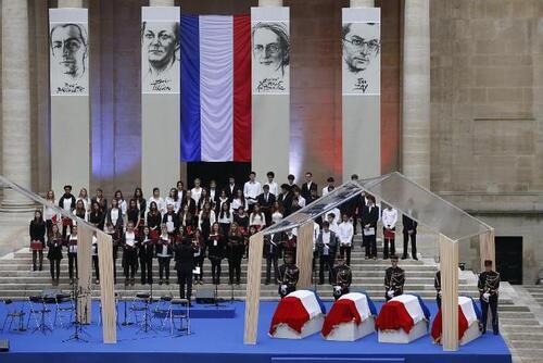 Panthéon: quatre grands résistants font leur entrée