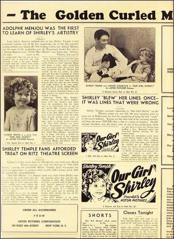 10 février       : mort de Shirley Temple