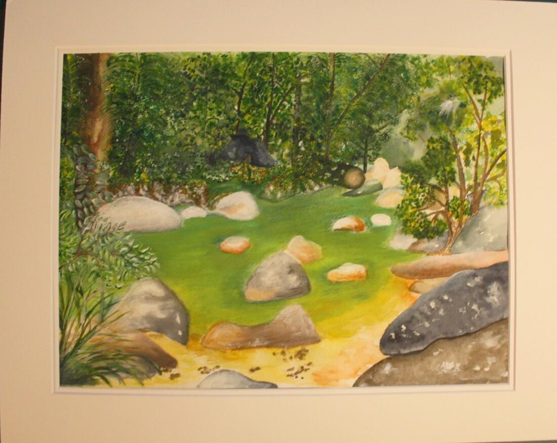 Un nouveau tableau : 3 Médiums  aquarelle/pastel/acrylique